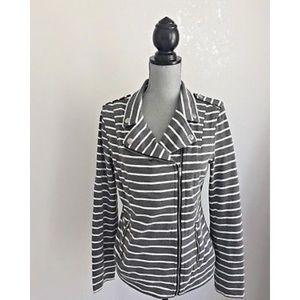 Market & Spruce Jacket, gray & White stripe